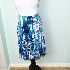 Stunning Blue and Black Print Skirt